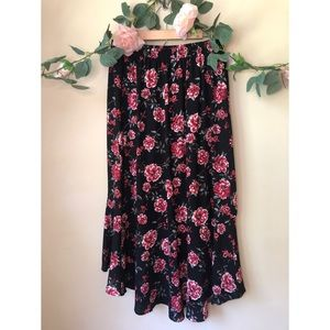Xhilaration Skirts - Asymmetrical Floral Maxi Skirt ❣️🌹🌼